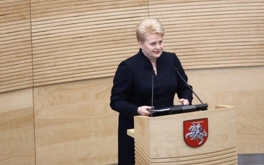 Grybauskaitė: Aby wprowadzić euro referendum nie jest potrzebne