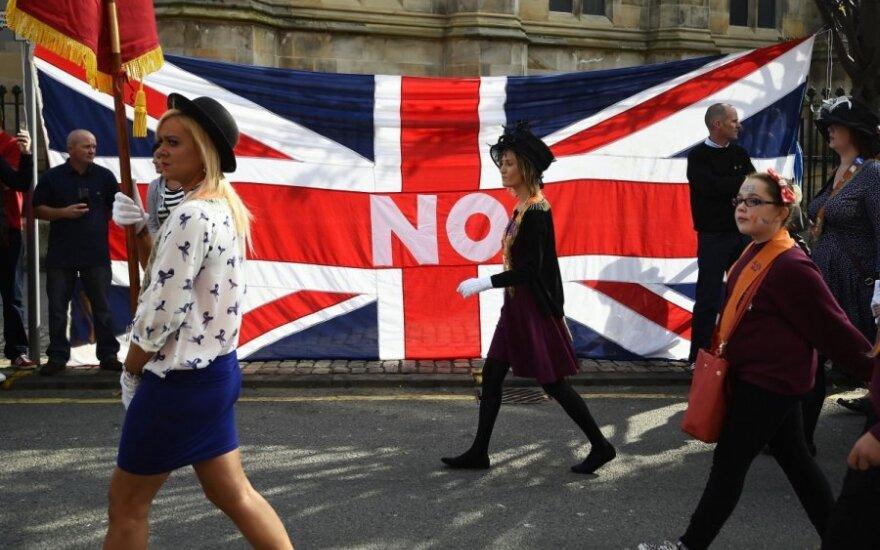 Eitynės Edinburge prieš Škotijos atsiskyrimą