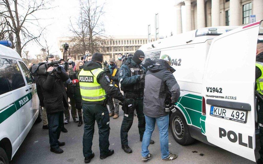 Около парламента Литвы состоялась акция протеста против ношения масок