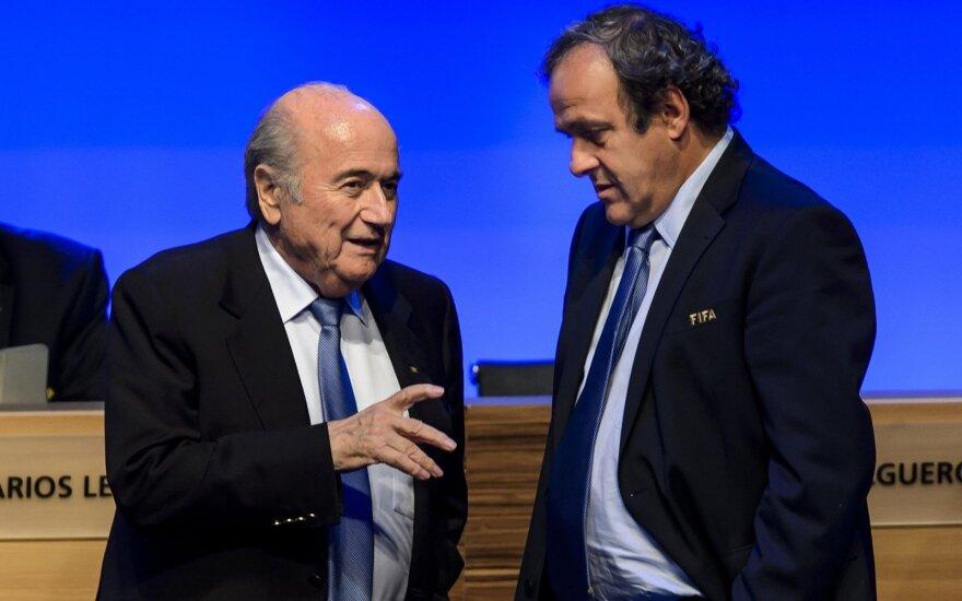 Josephas Blatteris ir Michelis Platini