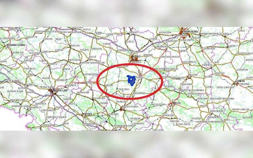 Trzęsienie ziemi w Bełchatowie. Foto: http://mapy.geoportal.gov.pl