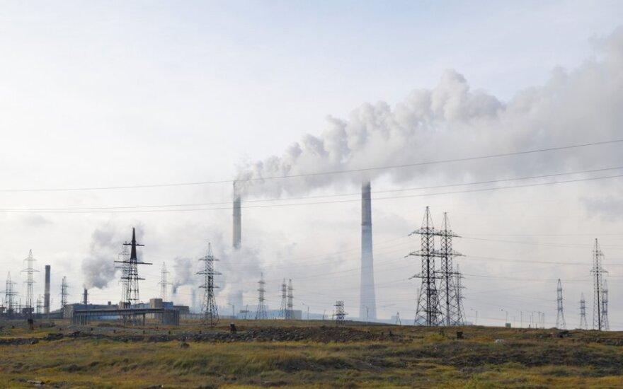 Norilskas, Rusija - peizaže daugiausia - fabrikų kaminų