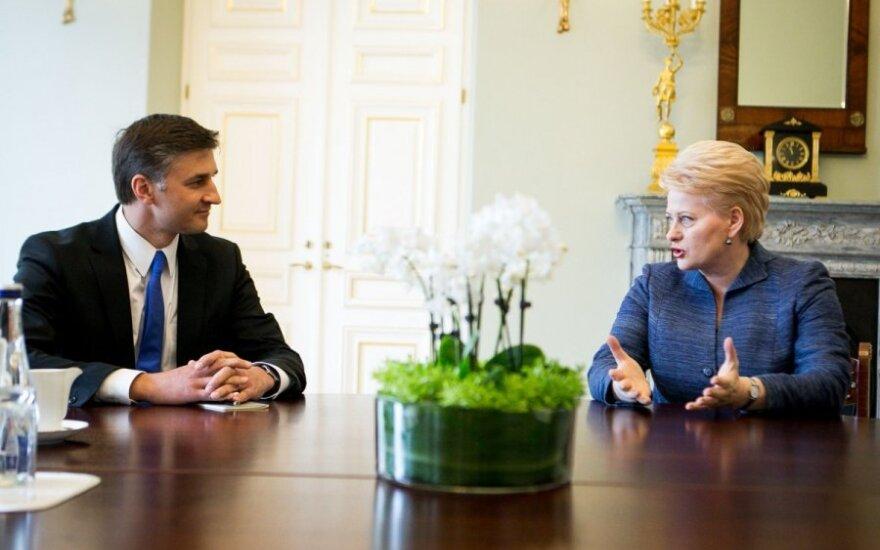 Jarosław Niewierowicz otrzymał wsparcie prezydent Dalii Grybauskaitė