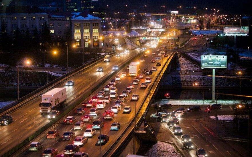 На дорогах Вильнюса – гололед