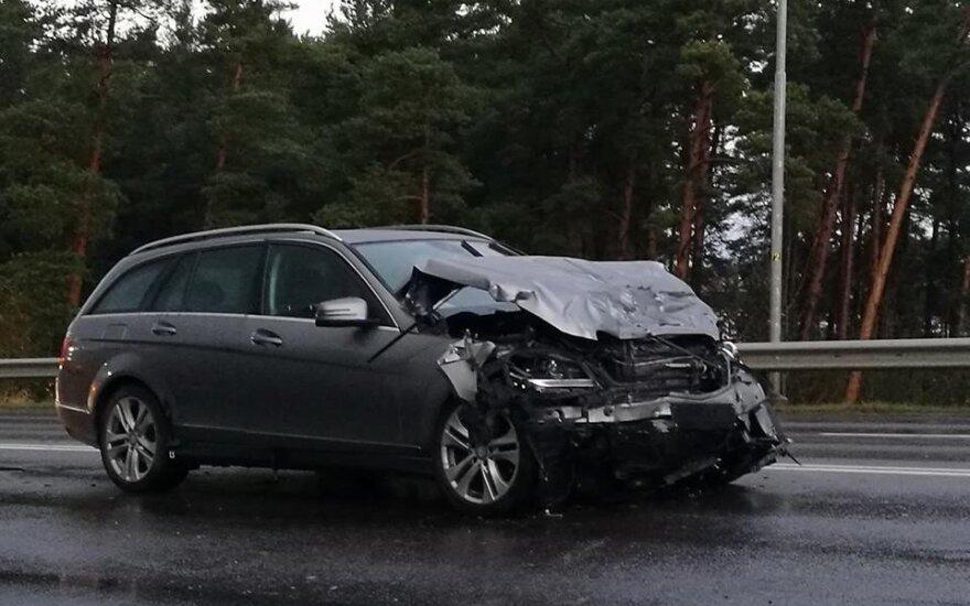 Трагическое ДТП в Клайпеде: на виадуке разбился водитель BMW