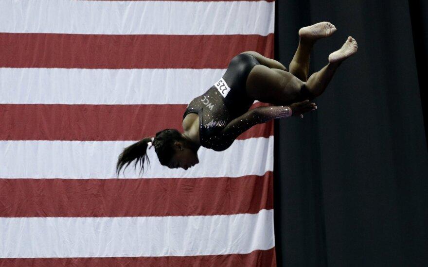 Olimpinė gimnastikos čempionė Simone Biles