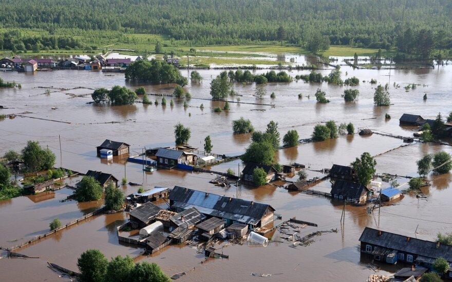 Potvynis Irkutske
