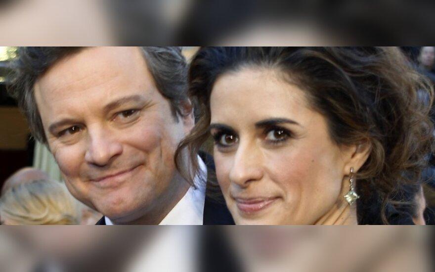 Colinas Firthas su žmona Livia