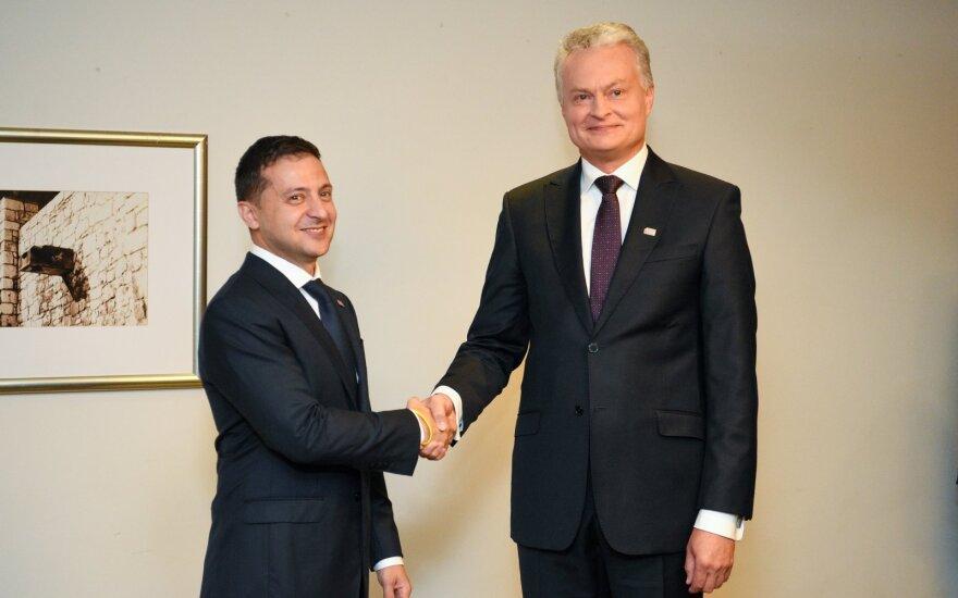Gitanas Nausėda ir Volodymyras Zelenskis