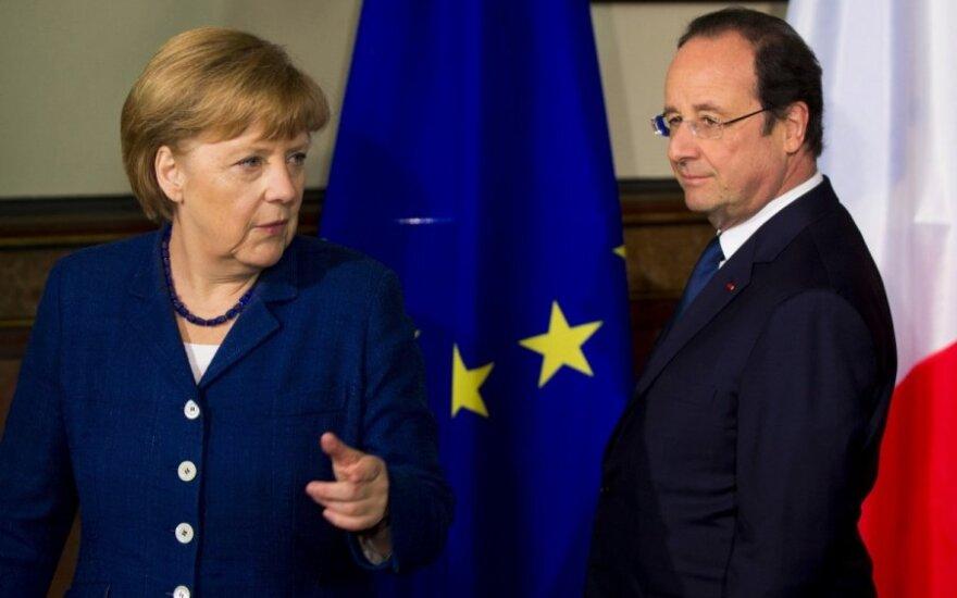 Angela Merkel, Francois Hollande'as