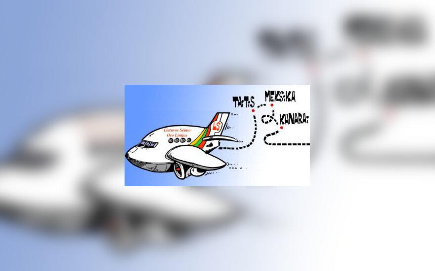 Seimo narių atostogos, komandiruotės - karikatūra