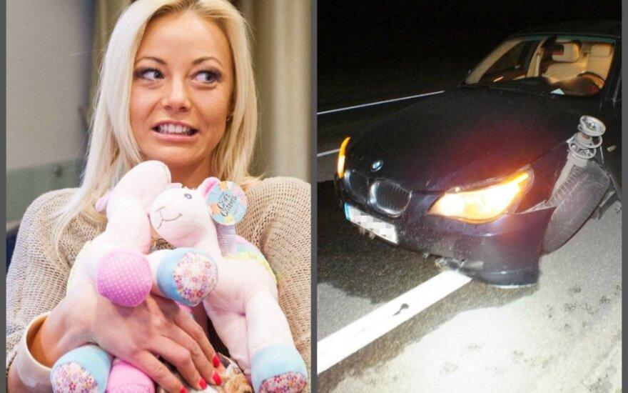 Mia ir avarijoje sumaitotas automobilis