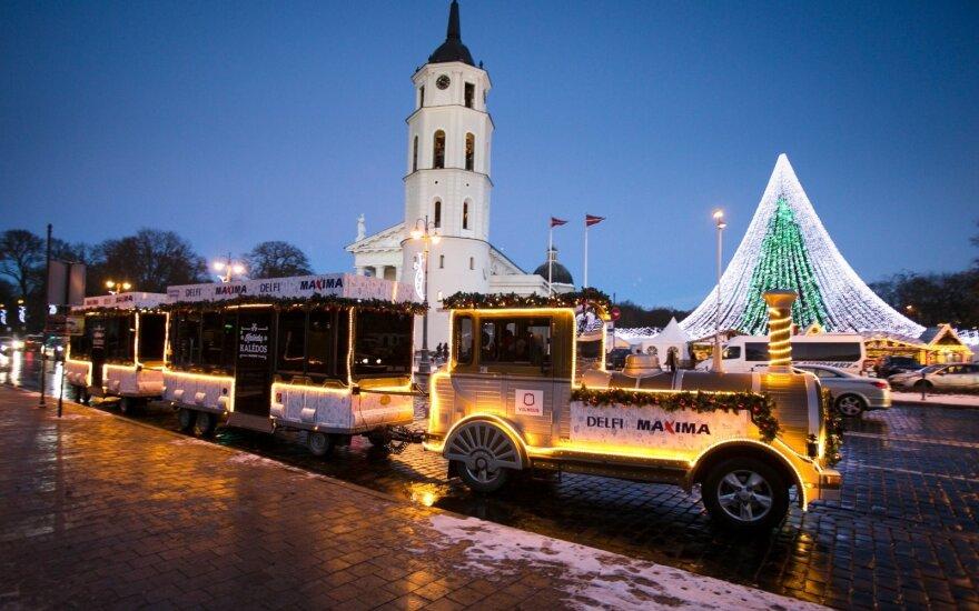 Рождественский поезд курсирует в Вильнюсе до 9 января