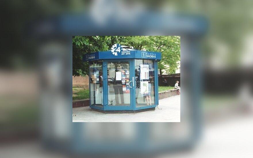 Из мини-банка Snoras украдено 40 тысяч литов