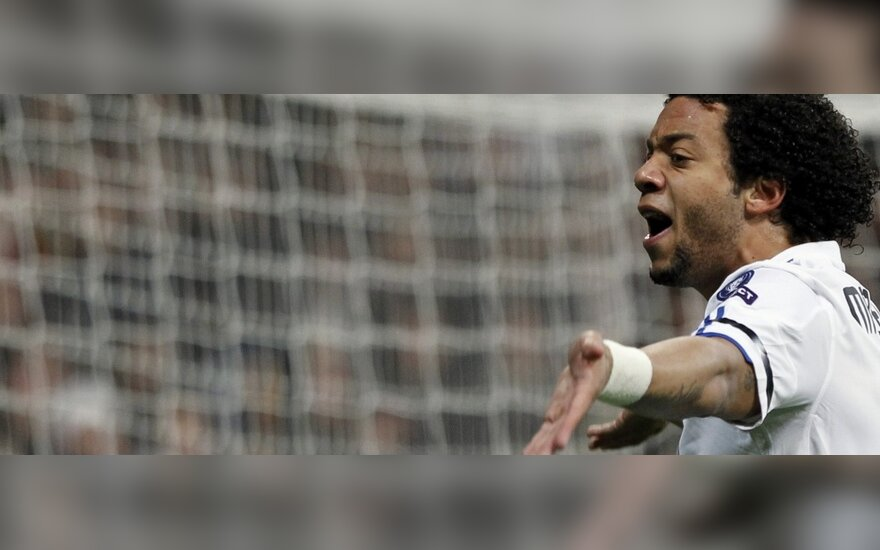 """Marcelo (""""Real"""") džiaugiasi įvarčiu"""