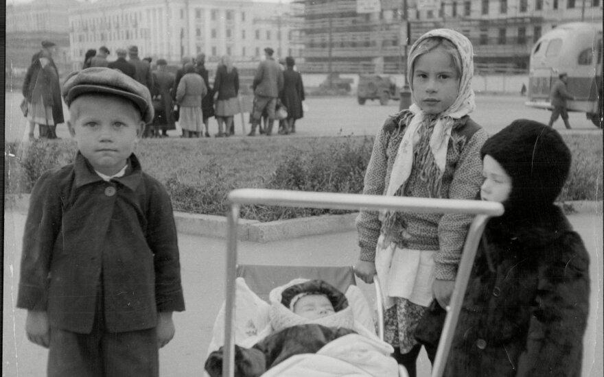 Vaikai Sibire 1954 m.