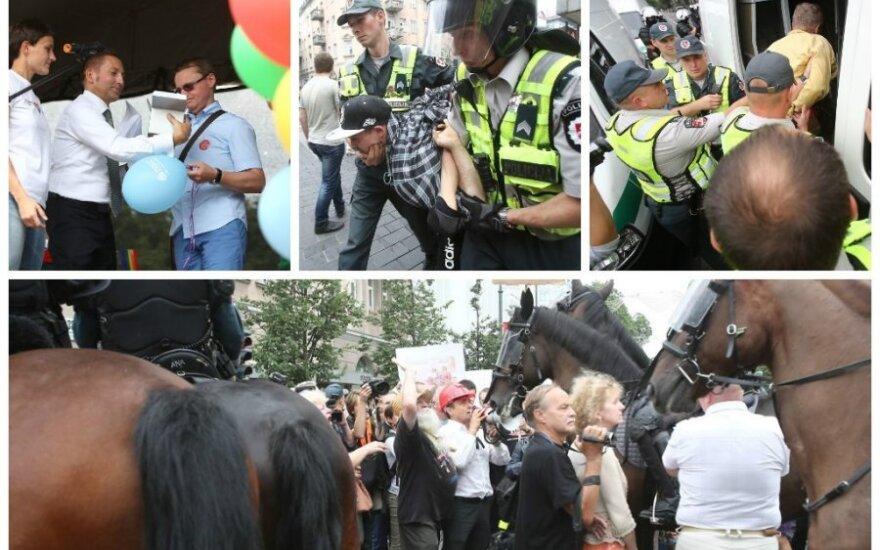 Marsz homoseksualistów w Wilnie