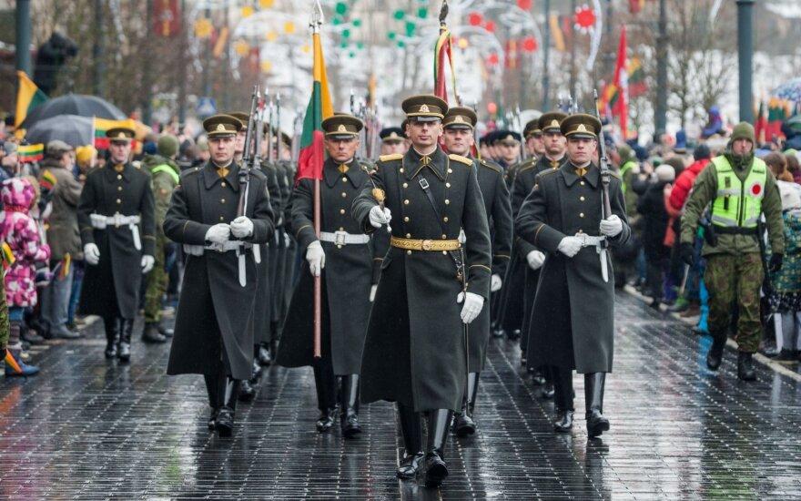 На площади Независимости подняты флаги трех стран Балтии