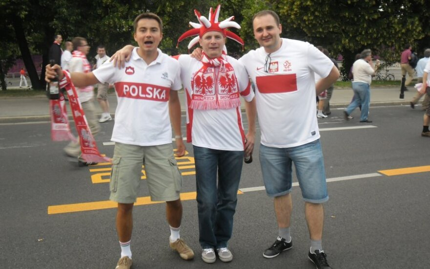 Warszawa, kibice z Rosji, policja