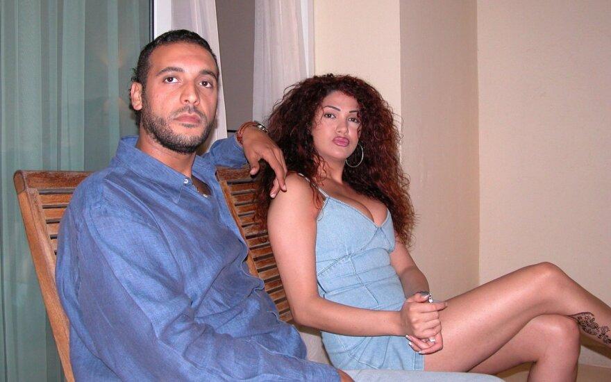 Hannibalas Gaddafi ir jo žmona Aline Skaff