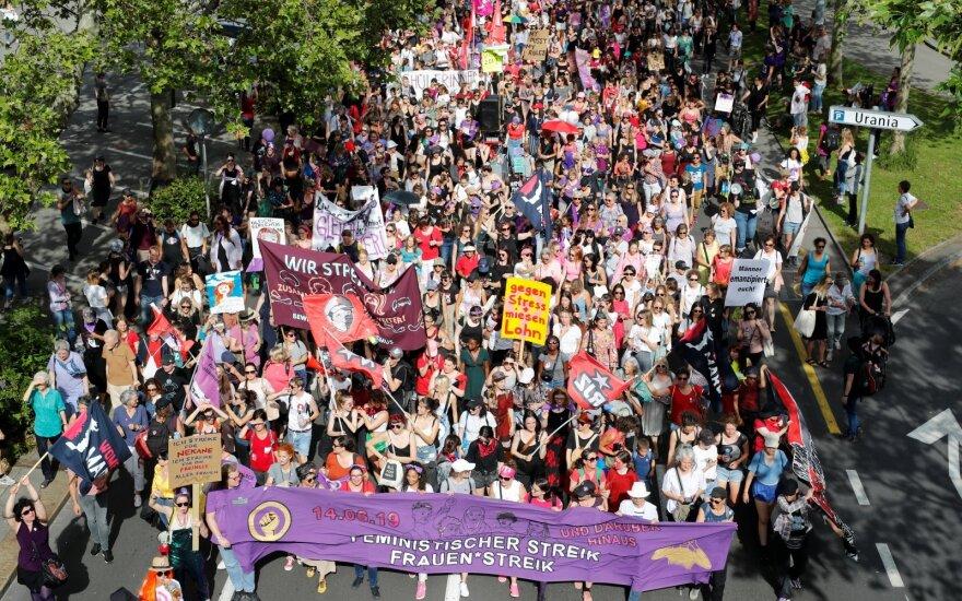 Moterų protestai Šveicarijoje