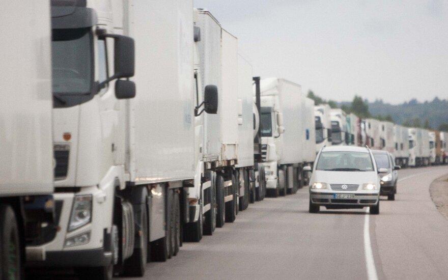 Linava: на границе с Литвой со стороны Беларуси стоят 1100 грузовиков