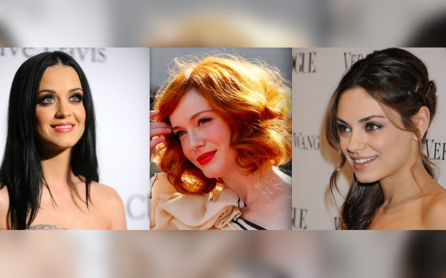 Katy Perry, Christina Hendricks ir Mila Kunis