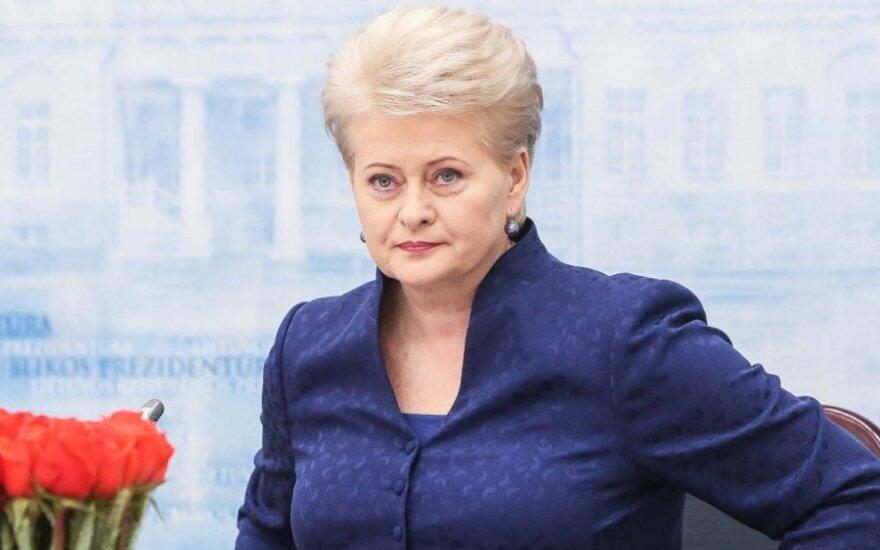 Dalia Grybauskaitė: Prawo zapewnia możliwość pozbycia się podejrzanych wiceministrów