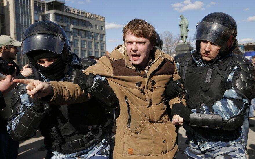 США осудили задержания участников протестов в Москве