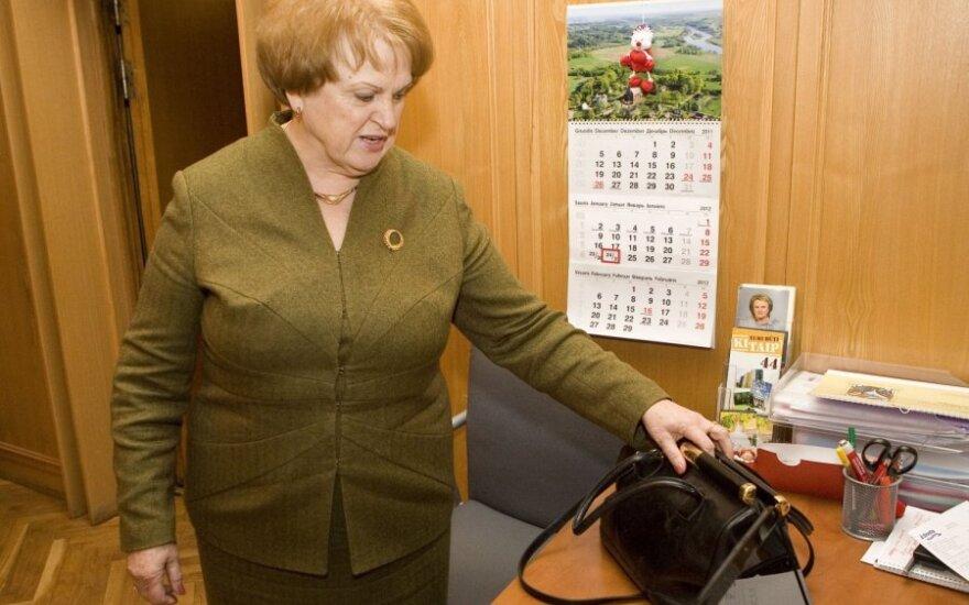 Iš Kazimieros Prunskienės rankinės pavogta 30 tūkst. Lt