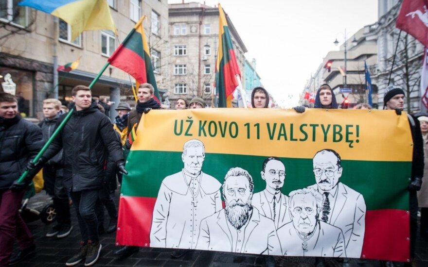 """В Вильнюсе состоялось шествие националистов под лозунгом """"Литва – для литовцев"""""""