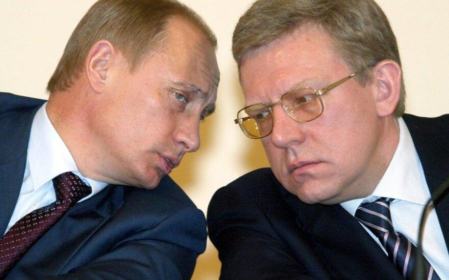 Vladimiras Putinas ir Aleksejus Kudrinas