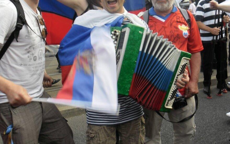 Rosyjscy kibice Warszawa
