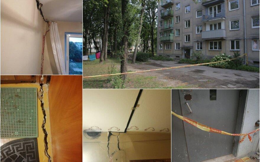 Жителей одного из подъездов разваливающегося дома в Каунасе выселили до ликвидации аварии