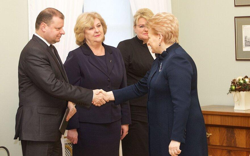 S. Skvernelis, A. Pabedinskienė, R. Šalaševičiūtė, D. Grybauskaitė
