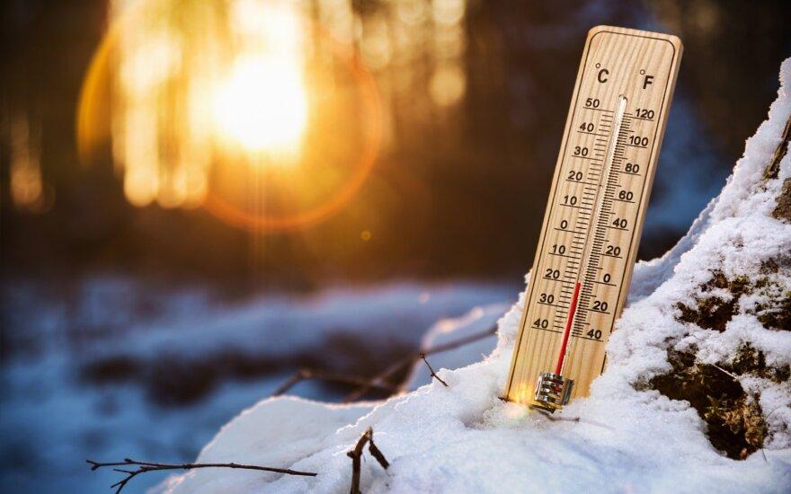 Ночью в Литве зафиксирован рекордный мороз