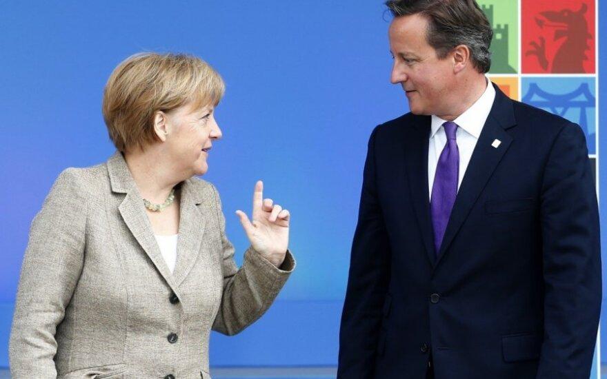 Angela Merkel, Davidas Cameronas