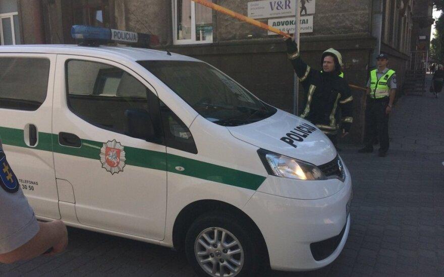 В пятницу утром было эвакуировано здание Каунасского окружного суда