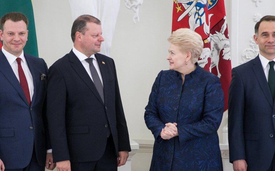 Президент Литвы поблагодарила правительство за совместную работу