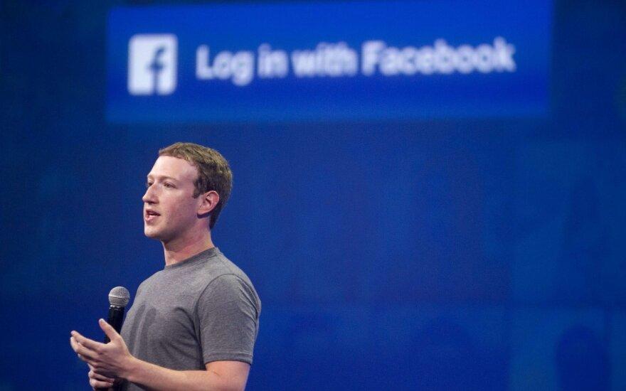 Facebook vadovas Markas Zuckerbergas