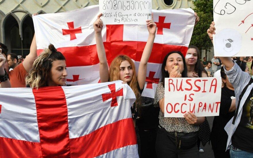 Protestai Tbilisyje