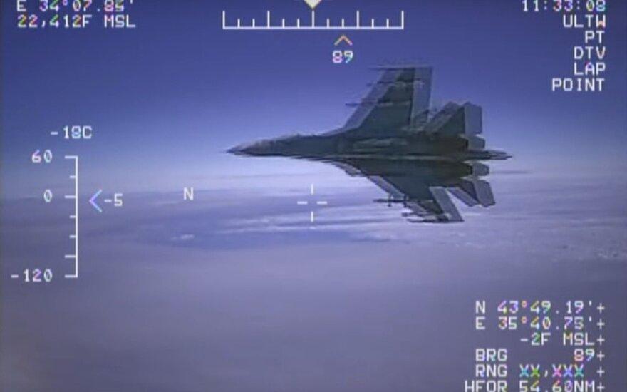 ВИДЕО: Перехват российским Су-27 американского разведчика на Черным морем