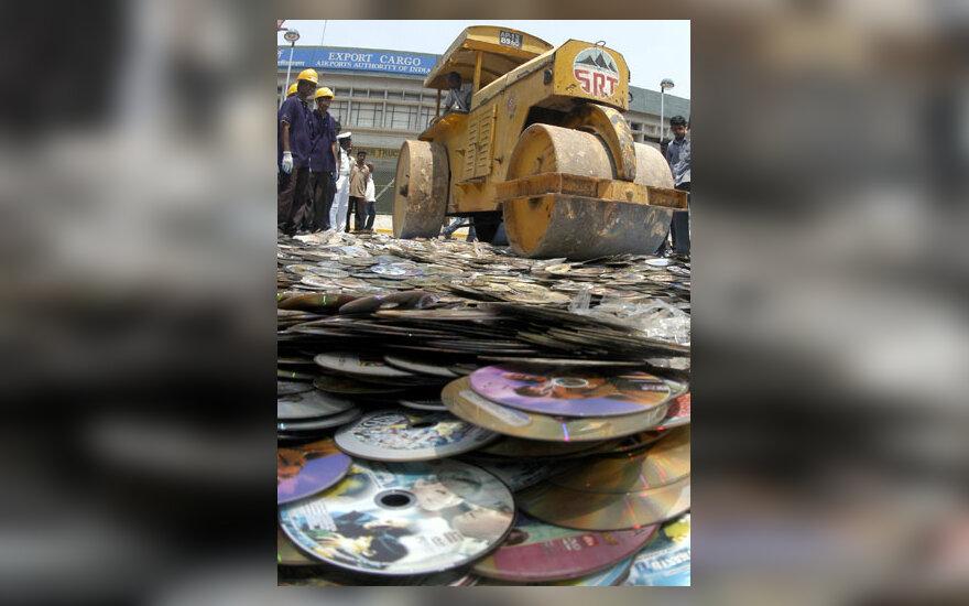 Piratinių DVD naikinimas