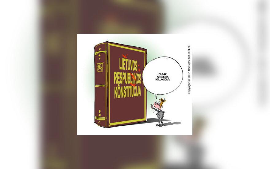 Lietuvos Respublikos Konstitucija - karikatūra