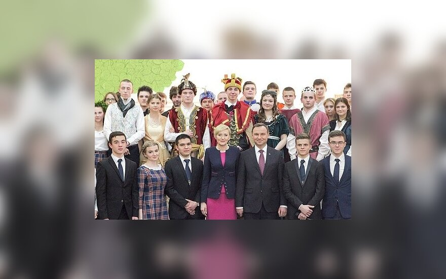 Dzień Polski w Liceum Polonijnym Kolegium św. Stanisława Kostki (fot. Grzegorz Jakubowski/ KPRP)