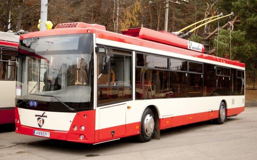 Представлен первый собранный в Вильнюсе троллейбус