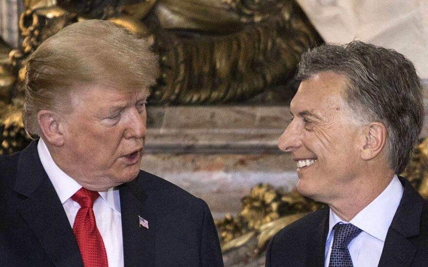 Donaldas Trumpas ir Mauricio Macri