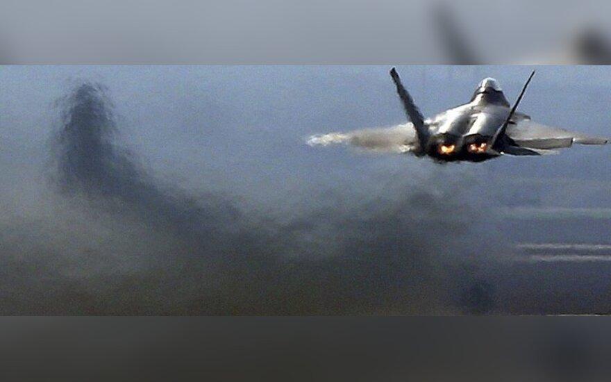 Самолеты испанских ВВС провели тренировочный полет над городами Эстонии