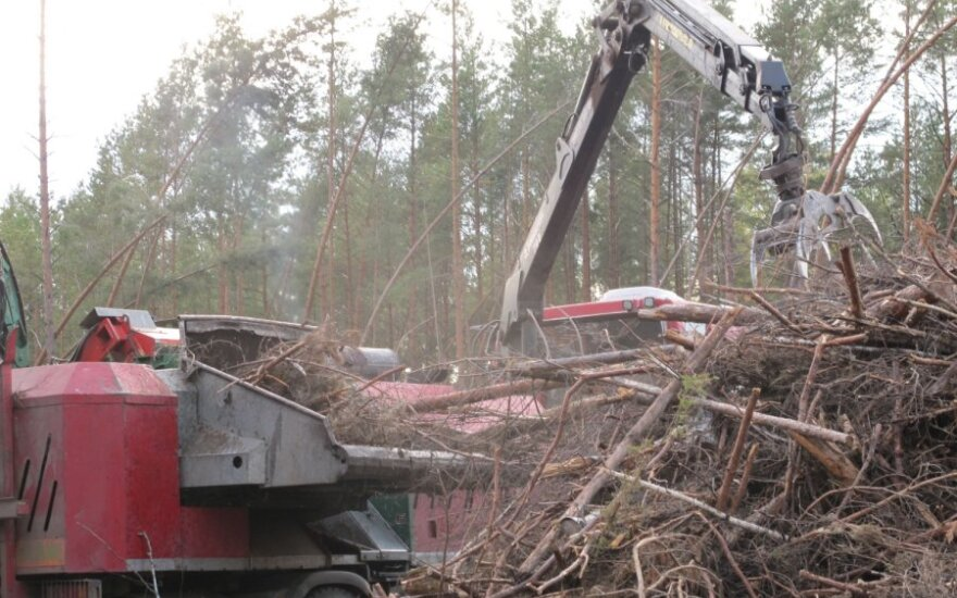Šakos smulkinamos specialia techika čia pat miške