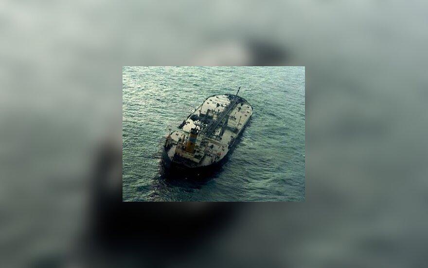 Honkongo tanklaivis Geltonojoje jūroje